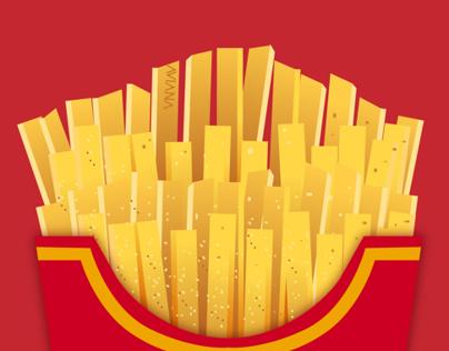 McDonald's Food | Vector Art