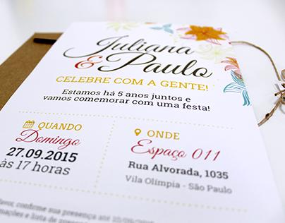 Juliana & Paulo: papelaria de casamento