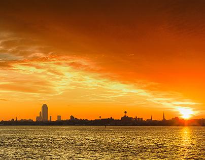 Sunrise & Sunset Panoramas  - NYC -