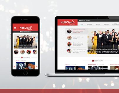 NotiClaro - Web Responsive / Piezas Gráficas