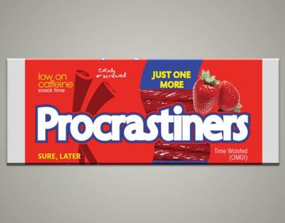 Procrastiners—Storytelling Infografic & Package Design