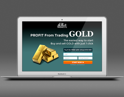 Landing page (trading with gold)