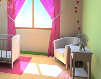3D Children room / chambre de bébé