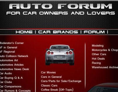 Auto Forum Page