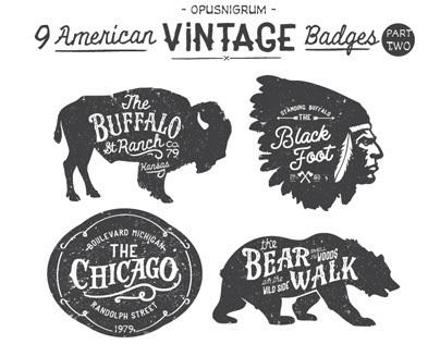 American Vintage Badges Part Two