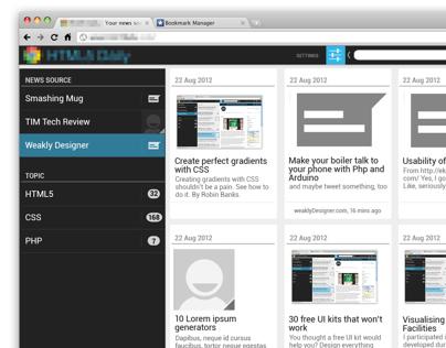 News web app spec design