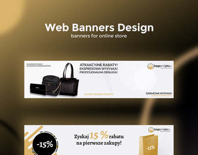 Web banners design online store