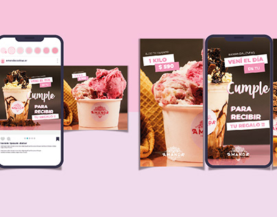 Gráfica Digital para heladería