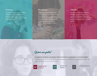Girls in Tech Chile: rediseño web