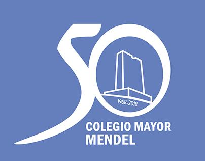 Logotipo 50 aniversario Colegio Mayor Mendel