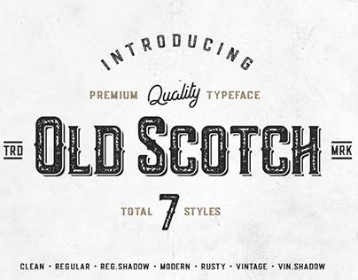 Old Scotch Typeface - 7 Font Styles