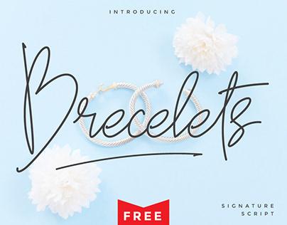 Brecelets Signature Font - Free Font