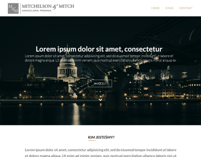 Mitchelson Law firm - One page website