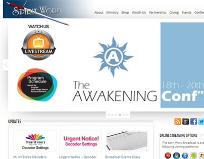Church Ministries Website - Online Broadcast - SA
