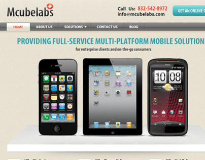 Mobile Apps Developers Responsive Website - Tx