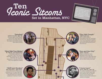 Infographic: NYC Sitcoms