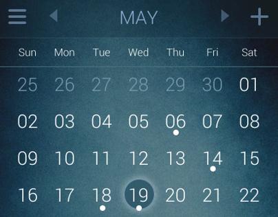 UI Concept   Calendar