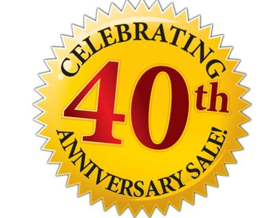 40th Anniversary Sale