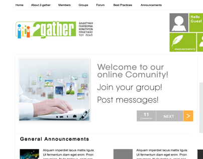 2Gather - Online Community Platform