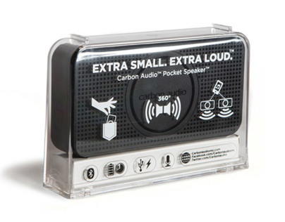 Carbon Audio Pocket Speaker Packaging