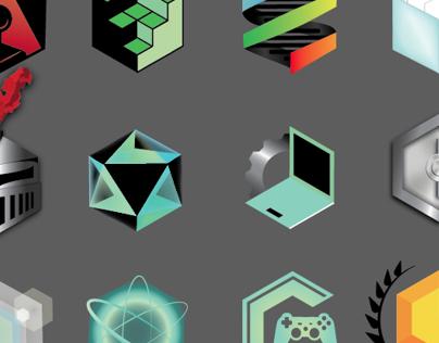 12 Hexigonal Logos