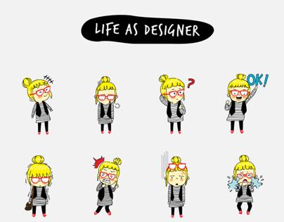 Life as Designer Campaign Sticker