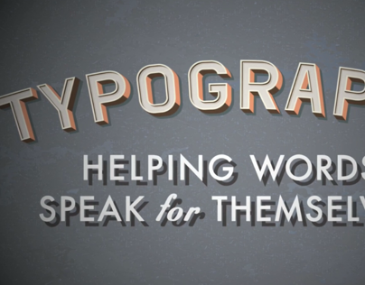Typography Video: Letters, Design and Motion