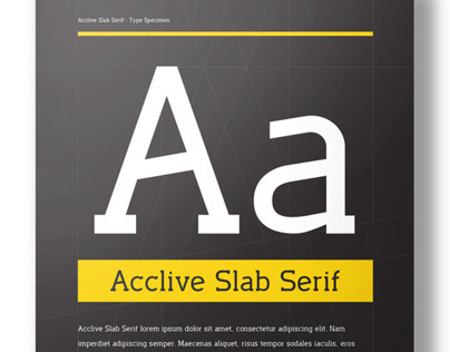 Acclive Slab Serif Typeface & Posters