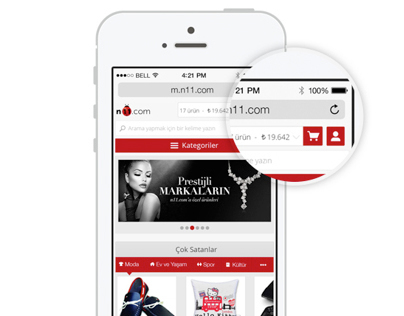 N11.com Mobile Web UI Design