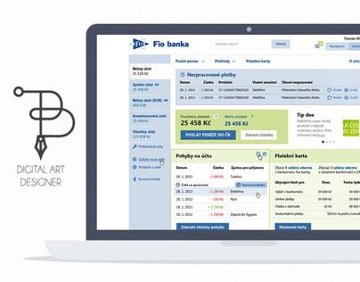 FIO internetbanking grafický návrh