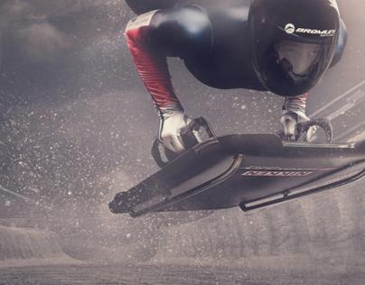 Kristan Bromley Great British Skeleton slider Sochi