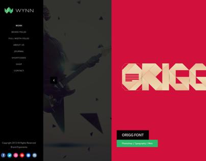 Wynn - Fullscreen Ajax Portfolio Theme