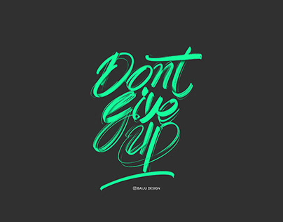 iPad Lettering | Procreate