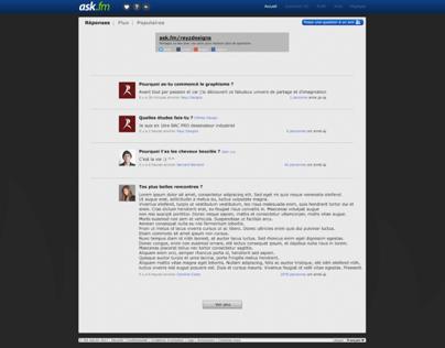 Ask.fm webdesign