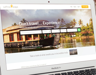 SaffronStays - Website Design