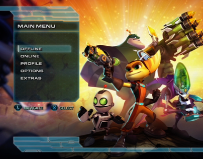 INSOMNIAC GAMES  |  Ratchet & Clank: All 4 One UI (PS3)