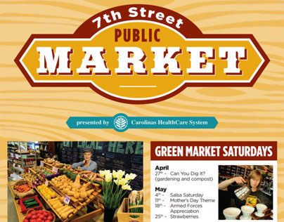 7th Street Public Market advertising design