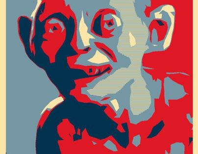 GCSE Digital Art: Own Version Shepard Fairey Poster