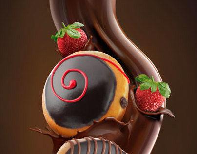 chocolate flow for Krispy Kreme