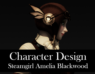 Character Design: Steamgirl Amelia Blackwood