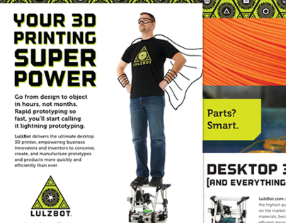 Lulzbot 3D Printers collateral design and production