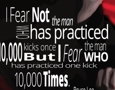 Bruce Lee Typography Poster
