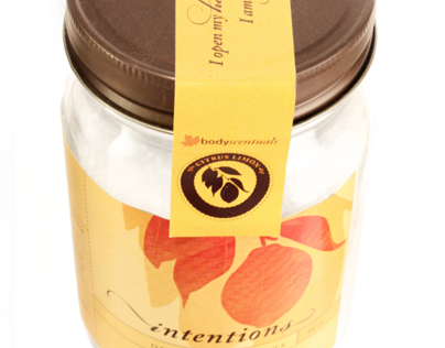 Intentions Bath Salts Packaging