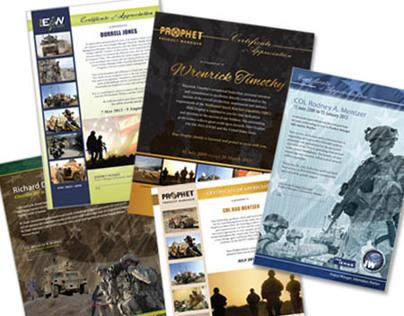 PM Certificate Designs