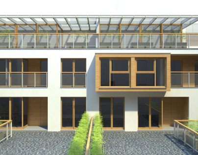 apartments within en existing courtyard