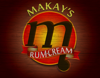 Makay's RUM CREAM : Label Design