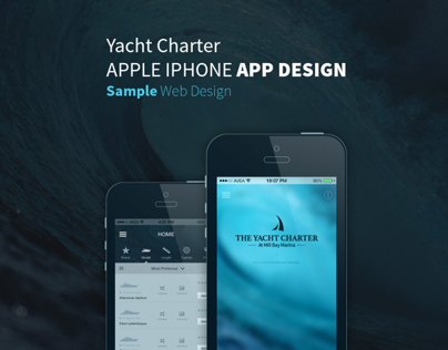 Yacht Charter | APPLE IPHONE APP IOS 7 DESIGN