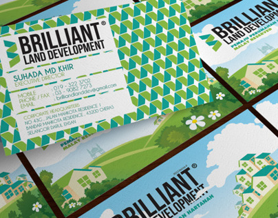 Business Card Design - Brilliant Land Development