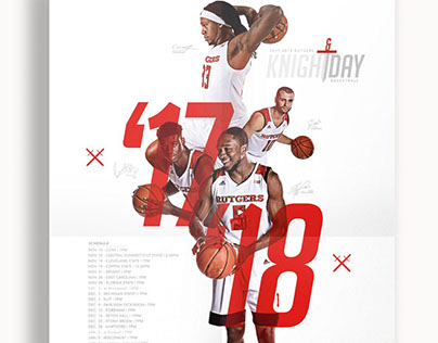 2017-18 Rutgers Men's Basketball Poster