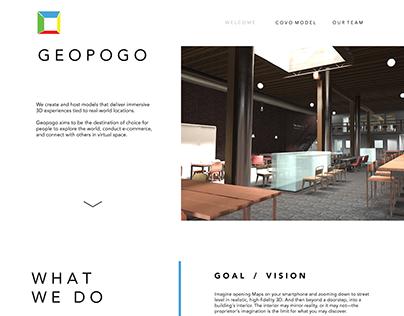 Geopogo Website UI Design